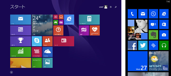 Windows8のPCとスマホ
